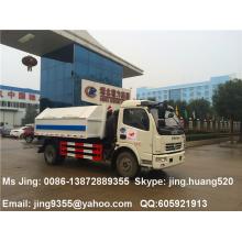 China Dongfeng 5m3 pequeño gancho levantar la venta de camiones de basura en Myanmar