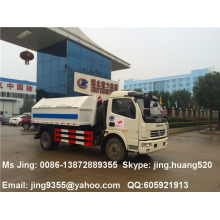 Китай Dongfeng 5m3 небольшой крюк лифт мусоровоз продажа в Мьянме