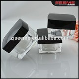 clear square acrylic jar,cosmetic packaging cosmetic jar