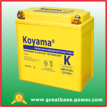 19ah 12V Sealed Motive Motorcycle Battery (KBTX16U)