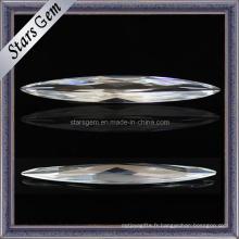 Pierres précieuses de haute qualité Diamant synthétique pour bijoux Zircon cubique