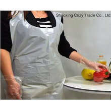 White Transparent PE Disposable Apron