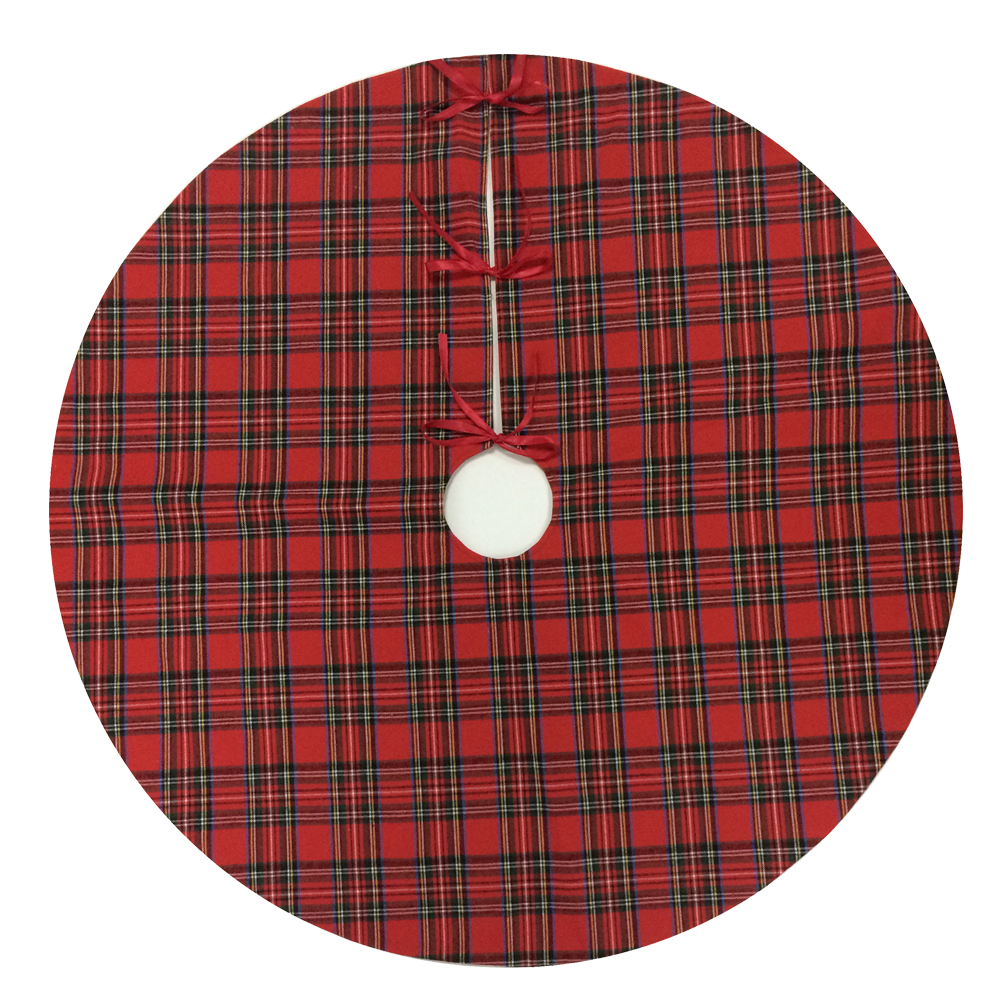 Plaid Cloth Christmas Tree Skirt