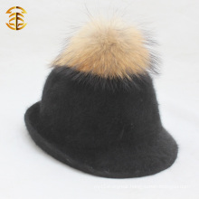 Wide Brim 100% Wool Felt Cowboy Hats For Women Wool Fedora Hat