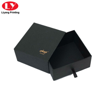 Black Paper Belt Box met Logo Stamping