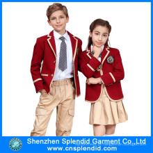 Mais recente design de moda de inverno de alta qualidade uniforme escolar islâmico