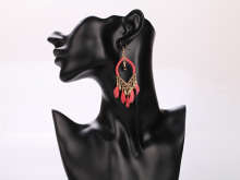 Luxury Feather Long Tassels Earring Wholesale Party Earrings