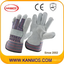 Grey Cowhide Split Leather Industrial Safety Work Gloves (110071)