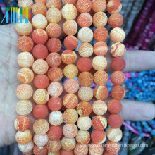 jewelry stone beads Natural 8 MM Weathering Agate Stone Jewelry Slices Large Wholesale