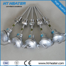 Sensor de termopar de temperatura de gas de acero inoxidable