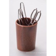 Sostenedor de los palillos de la melamina / color de madera natural (NK16113)