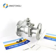 JKTLFB041 retour à ressort a216 wcb vanne à bille en nylon en acier inoxydable 2pc