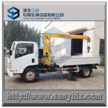 3 Ton Telescopic Arm Crane Mounted Isuzu 4X2 Cargo Truck