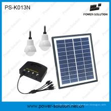 aus Grid Solar Home Beleuchtung Kits mit 2 Birnen USB-Ladegerät