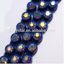 Venta al por mayor cristalina del Rhinestone del BULK de la cadena de la taza del Rhinestone de la alta calidad