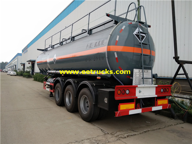 28000L Hydrochloric Acid Transport Trailers