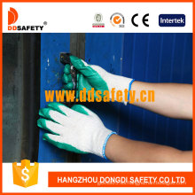 Guantes de algodón / poliéster Ddsafety, guantes de acabado liso de látex (DKL314)