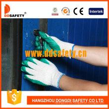 Poliéster de algodón Ddsafety con guantes de látex Dkl314