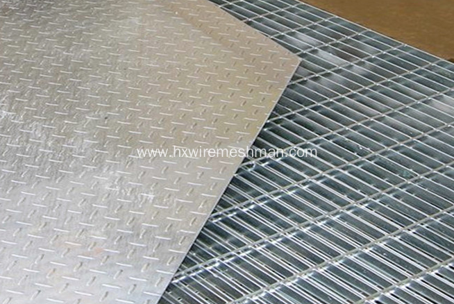Low carbon steel stair treads