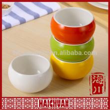Cor cerâmica rodada bakeware lanche tigela tigela saladeira bolo bakeware