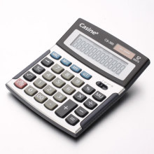 Schwarzer Kunststoff-Rechner