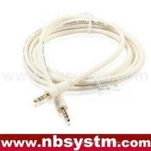 Hochwertiger 3,5 Stereo-Stecker auf 3,5 Stereo-männlichen Kabel Elfenbein Farbe