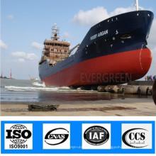 ISO Аттестовал пневматический Раздувной плавая природного каучука морской лодка корабль, запуск подушек безопасности