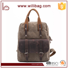 Vintage Durable Canvas Rucksack Briefcase For Mens Backpack