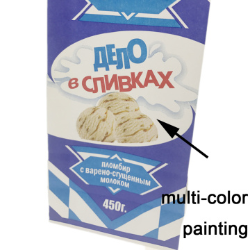 White Krafte Paper Laminatd Retail Ice-cream Snack Bag