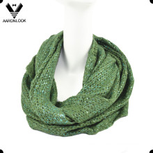2016 Latest Fashion Shiny Foil Print Tube Scarf