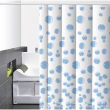 Anneau de rideau de douche imprimé pour salle de bain imperméable
