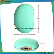 3 mini-banque portative de puissance de réchauffeur de main de la température (blanc)