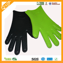 FDA Standard Silikon Hitzebeständige Ofen & Barbecue Handschuhe
