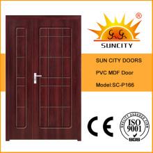 Projetos de porta de banheiro sólido de luxo indiano de alta qualidade (SC-P166)