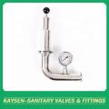 Válvula de descarga de aire de escape sanitario con manómetro