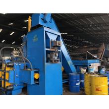 Sistema de prensa de briquetagem horizontal de aço cobre latão