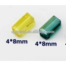 Cuentas y granos rectangulares de cristal