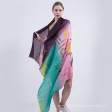 Nuevo patrón 217 100% algodón gasa mantón mujeres algodón impreso bufanda