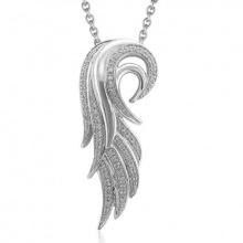 Joyería del collar de los colgantes de la plata esterlina del ala 925 del ángel