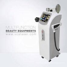 Exquisito Elight (IPL) + Unipolar RF + máquina láser de belleza depilación, lifting de piel, eliminación de tatuajes