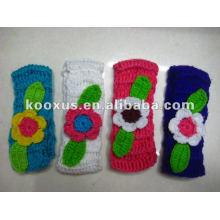 Nueva flor del hairband del hilado de lanas del ganchillo del estilo