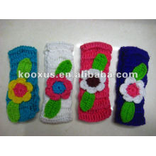New style crochet wool yarn hairband flower