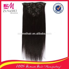 top grade best price full thick black color clip in hair extensions for black women