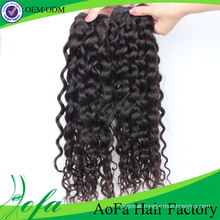 Natural Black Kertain Unprocessed Human Weaving Hair