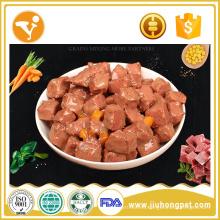 OEM 100% natural perro comida para bocadillos húmeda comida para perros en lata