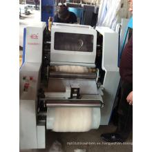 Pequeña máquina de hilado y cardado de hilado de lana