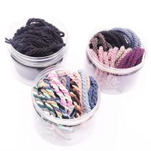 20 pcs Scrunchies Elastic hair ties colorful custom rubber elastic hair tie bracelet ponytail holder Accessories for women Girl
