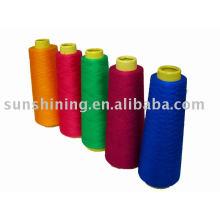 Fio espiral com viscose de cor para tricô