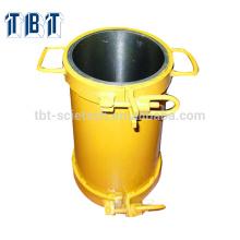 Con diverso color Alta precisión Acero 150 * 300 Moldes de cilindros de equipos de prueba de Concreto