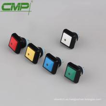 Interruptor de botón sellado momentáneo cuadrado de 12 mm
